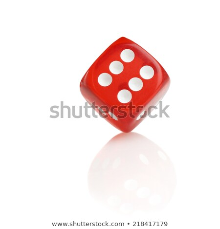 red six dice Stock photo © nicemonkey