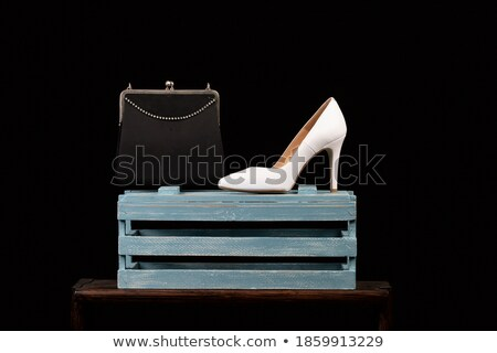 Negro fetiche estilo zapato aislado blanco Foto stock © Elisanth