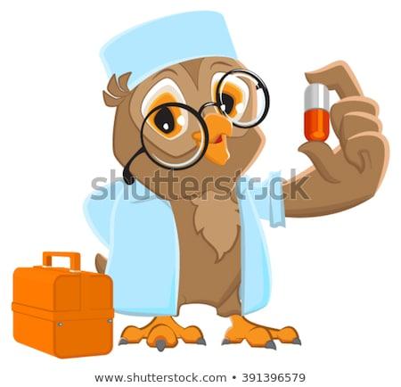 совы врач таблетки скорой белый Сток-фото © orensila