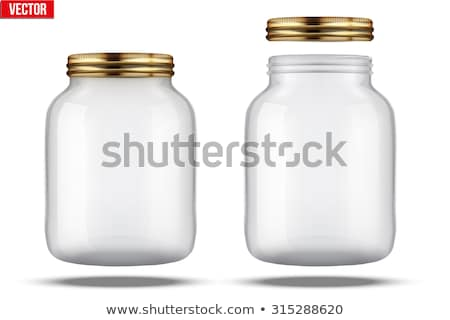 Glass Jars for canning and preserving. With cover , without lid. Stock photo © Samoilik