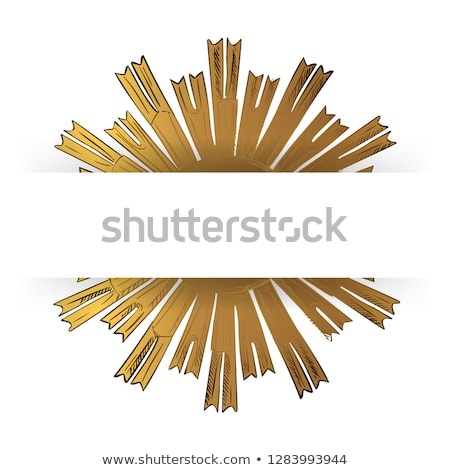 the vector gold jesus on black background stock photo © sdmix