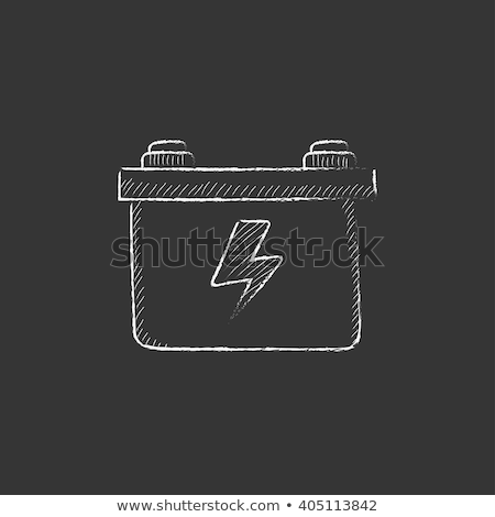 Car battery. Drawn in chalk icon. Stock photo © RAStudio