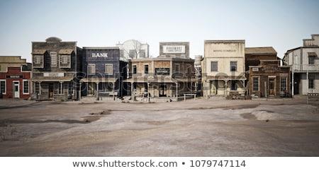 sauvage · ouest · paysage · rétro · désert · vintage - photo stock © tracer