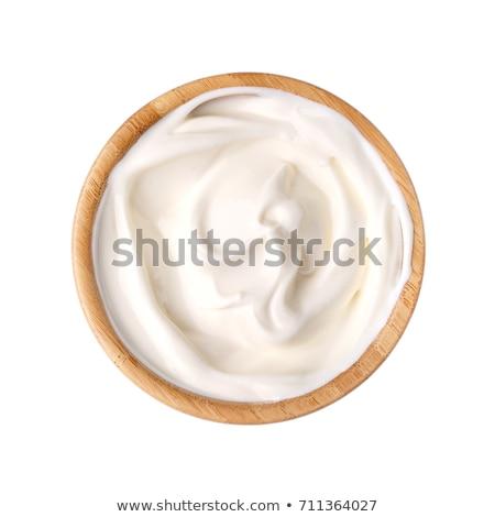 Tál tejföl stúdiófelvétel étel friss krém Stock fotó © Digifoodstock