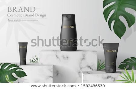Zonnebrandcrème producten witte zon oranje fles Stockfoto © Zerbor