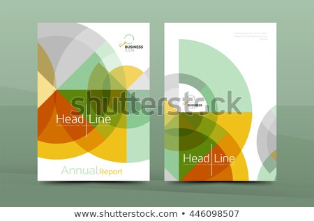 Blue Cover annual report brochure flyer book cover polygon backg Stock photo © ganpanjanee