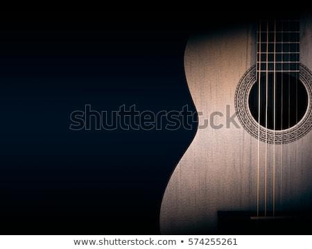 современный черный поперечное сечение белый гитаре Сток-фото © zhekos