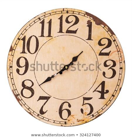 óra · számjegyek · idő · perc · második · kezek - stock fotó © mizar_21984
