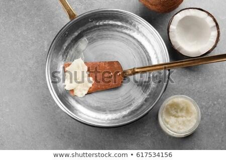 Pure lard on spatula Stock photo © Digifoodstock