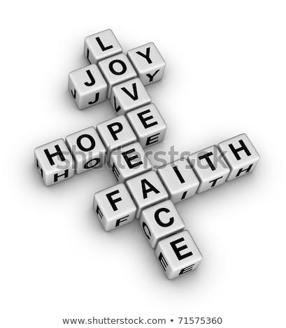 Puzzle słowo wiary puzzle budowy zabawki Zdjęcia stock © fuzzbones0