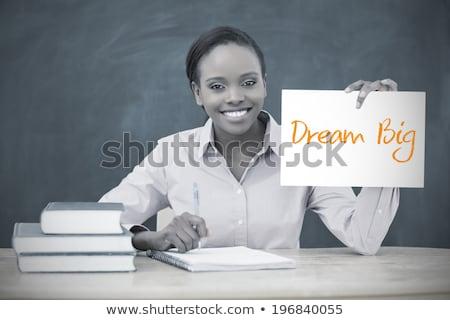 мечта · работу · текста · блокнот · служба · инструменты - Сток-фото © fuzzbones0