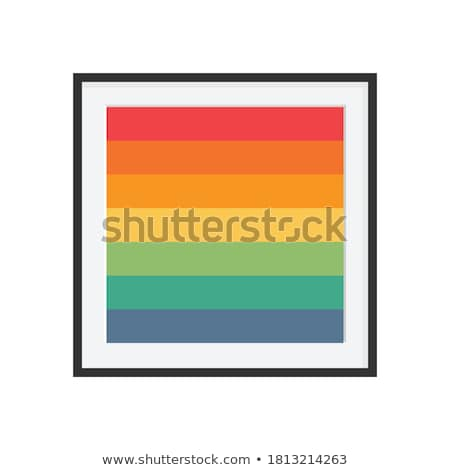 Simple Hipster Photo Icon with Abstract colorful rainbow stripes Stock photo © pashabo