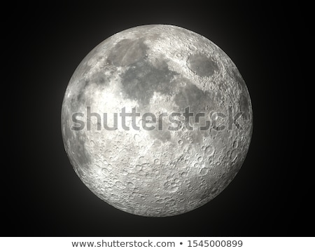 souriant · lune · ciel · sourire · visage · nuit - photo stock © bluering