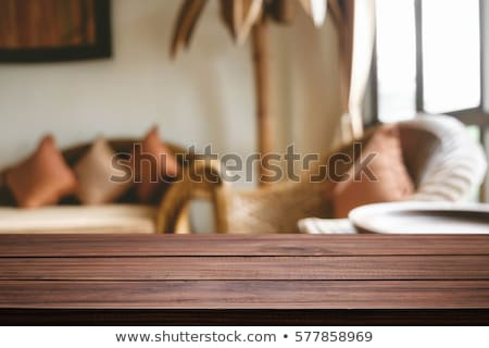 Wooden table in the house Stock photo © bluering