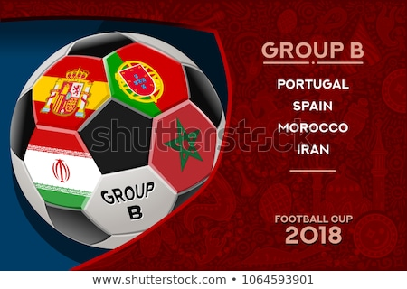 portugal flag set with soccer ball stock photo © doomko