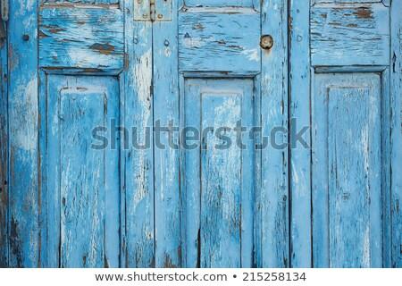 Rustique patiné bleu peinture Photo stock © stevanovicigor