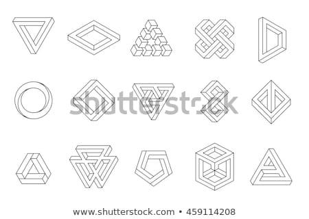 不可能 三角形 孤立した 白 抽象的な ストックフォト © Said