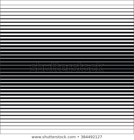 Vector Seamless Black and White Halftone Horizontal Stripes Pattern Stock photo © CreatorsClub