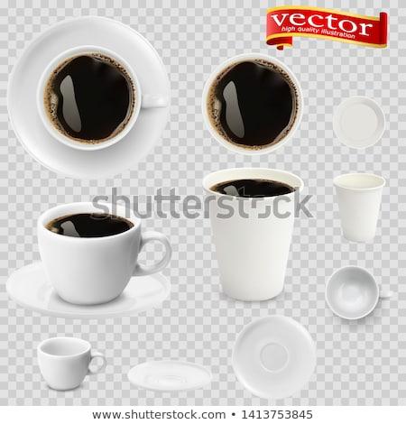 cute · affiche · design · tasses · de · café - photo stock © frescomovie