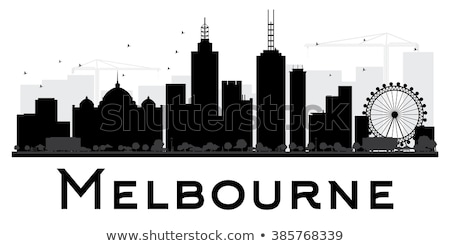 Melbourne skyline view black and white stock photo © oliverfoerstner