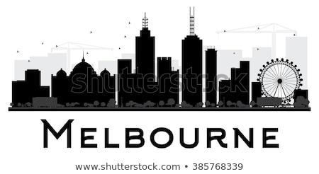 Melbourne linha do horizonte ver preto e branco Austrália 24 Foto stock © oliverfoerstner