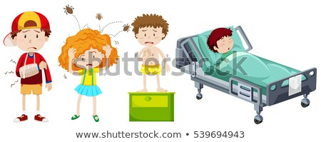 Children being sick from different disease Stock photo © bluering