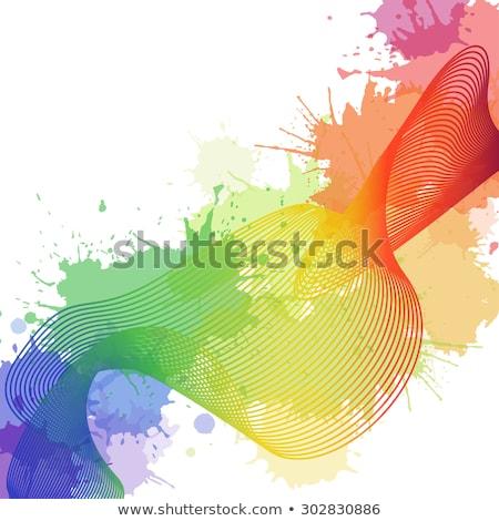 creativa · naranja · tinta · membrete · plantilla · vector - foto stock © SArts
