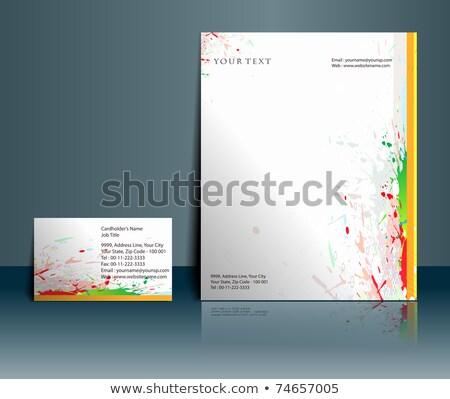 Kreative Tinte Design Briefkopf Vorlage Vektor Stock foto © SArts