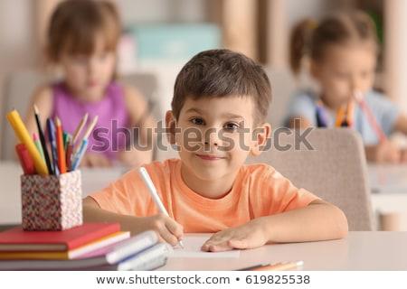 crianças · comunicação · dois · crianças · palavra · balões - foto stock © bluering