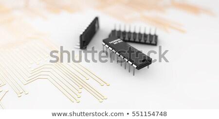 egyszerű · elektronikus · áramkör · berendezés · transzformátor · technológia - stock fotó © tussik