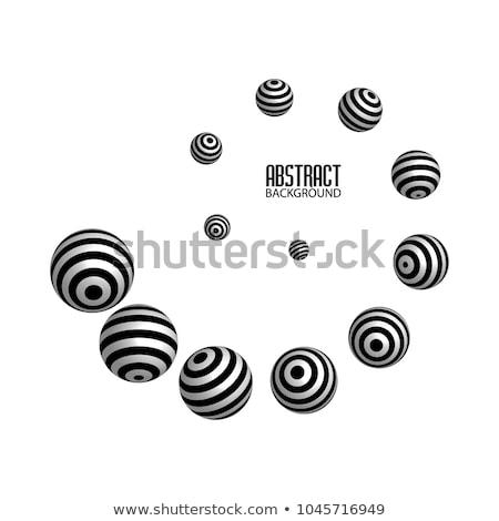 Abstract monochroom zwart wit cirkel logo vector Stockfoto © saicle