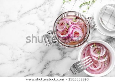 Cipolle piccolo vetro piatto piatto Foto d'archivio © Digifoodstock