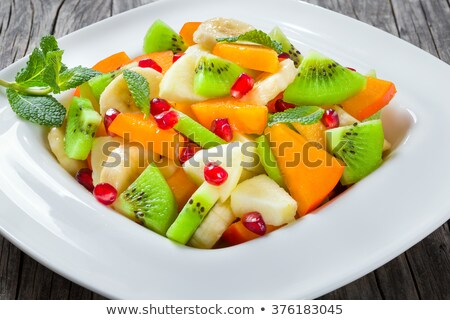 Wide rimmed square plate Stock photo © Digifoodstock