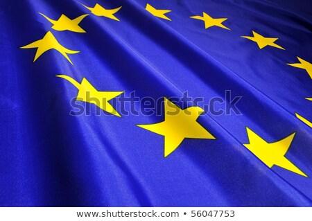 Flag of European Union EU with a flying star Stock photo © tkacchuk