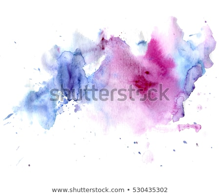 pink and blue watercolor stain with dripping effect Stock photo © SArts