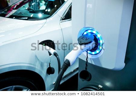 Zdjęcia stock: Elektryczne · pojazd · stacja · samochodu · przemysłu · kabel