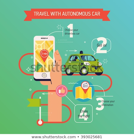 Location Map Application and Self-Driving Urban Car Stock photo © Jesussanz