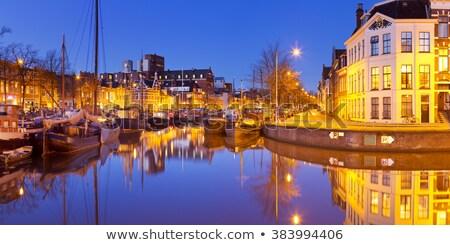 парусного · лодках · порт · пирс · ночь - Сток-фото © hofmeester