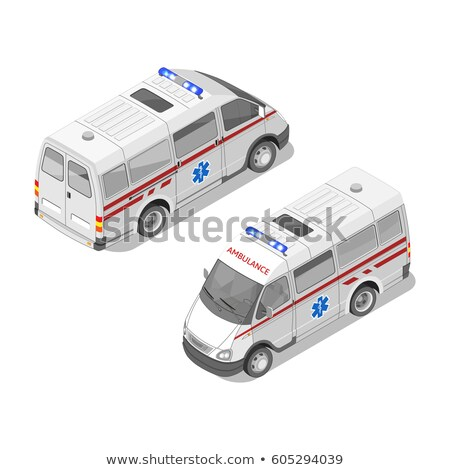Vector realistisch isometrische 3d illustration ambulance auto Stockfoto © curiosity