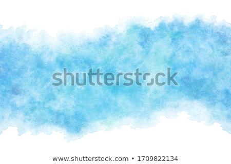 Mavi mürekkep suluboya vektör leke su Stok fotoğraf © SArts