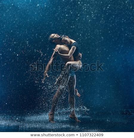 mulher · sexy · gotas · de · água · sensual · bela · mulher · posando · molhado - foto stock © master1305