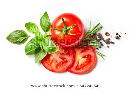 Frescos tomate rojo jugoso hoja frutas Foto stock © tito