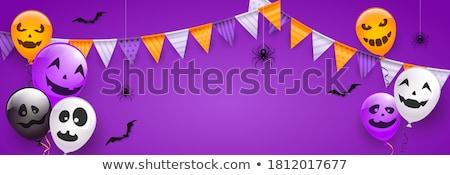 Pourpre araignée visage heureux illustration art tropicales Photo stock © bluering