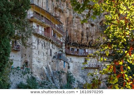Templom kolostor erőd építkezés háttér építészet Stock fotó © orla