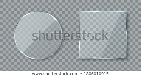 Transparent Round Circle Vector Realistic Illustration. Background Glass Circle Stock photo © pikepicture
