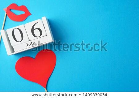 Internationale zoenen dag kalender wenskaart vakantie Stockfoto © Olena