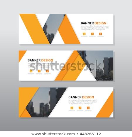 Drei Business Stil Kopfzeile Banner Design Stock foto © SArts