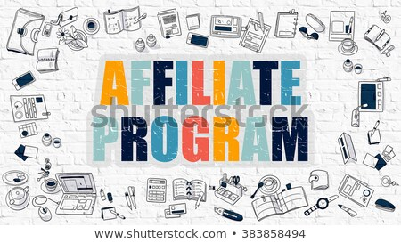 Affiliate Program in Multicolor. Doodle Design. Stock photo © tashatuvango