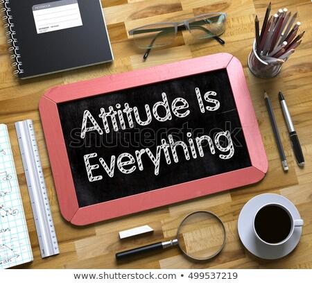 Small Chalkboard with Attitude Is Everything. 3D. Stock photo © tashatuvango