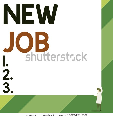 Woman holding blank with text about career gender. Stock photo © deandrobot